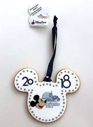 Walt Disney World Mickey Mouse Icon 2018 Porcelain Disc Christmas Ornament