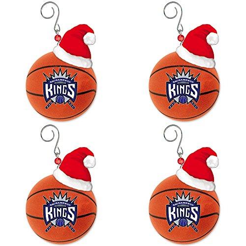 NBA Sacramento Kings Team Ball Christmas Ornament Bundle 4 Pack By Evergreen