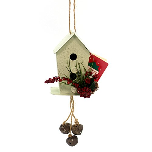 Boyds Bears Resin MOUNTAIN BERRY TIN BIRDHOUSE ORN Primitive Bells 89144 White