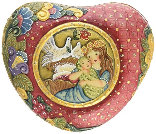 G. Debrekht Motherly Love Heart Box, 4 by 3-1/2-Inch, Inside Box Inscription The Heartfelt Love Between a Mother and Child Is forever