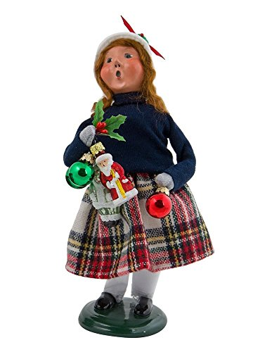 Byers Choice 2017 Ornament Girl plus Free Byers Gift Box