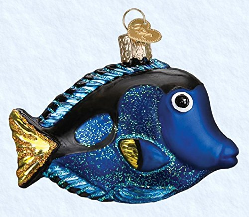 Old World Christmas Pacific Blue Tang Glass Blown Ornament