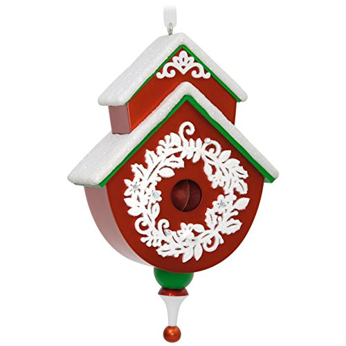 Hallmark Keepsake 2017 Red and Green Beautiful Birdhouse Christmas Ornament