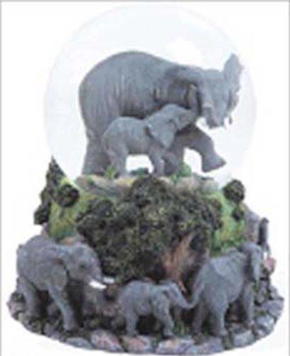 Elephants Musical Snow Globe – Born Free