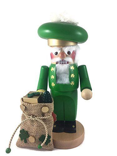 Steinbach St. Patrick's Day Deluxe Festive Chubby Irish Santa, 12 Inches Tall