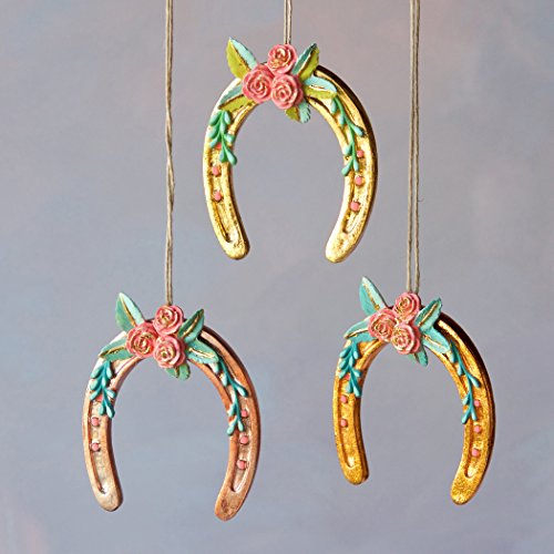 Pretty Horseshoe Ornament (Rose Gold)