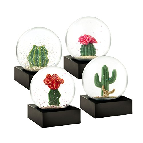 Cactus Set of 4 Miniature Cool Snow Globes by CoolSnowGlobes®