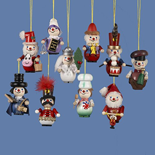 10 Assorted Steinbach Miniature Christmas Nutcracker Ornaments 3.5″