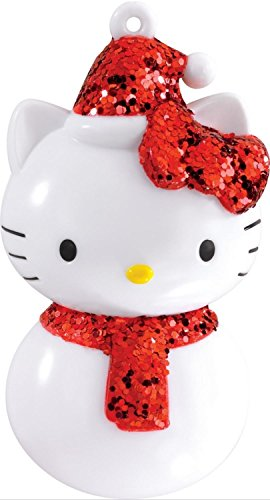 3.25″ Carlton Cards Heirloom Red Glittered Hello Kitty Christmas Ornament