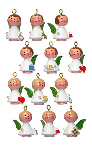 Alexander Taron Christian Ulbricht Set of 12 Angels Decorative Hanging Ornament