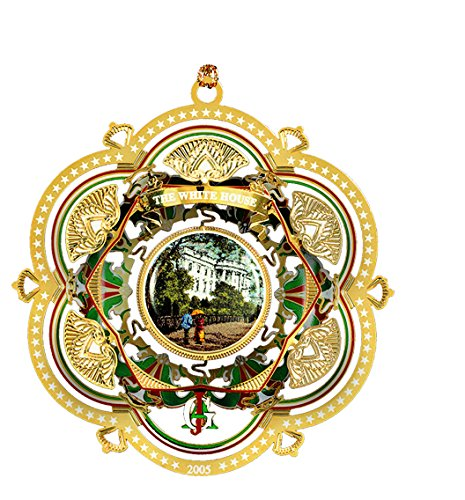 2005 White House Christmas Ornament, The South Facade by White House Historical Association