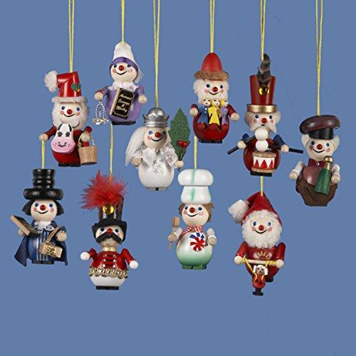 10 Assorted Steinbach Miniature Christmas Nutcracker Ornaments 3.5″