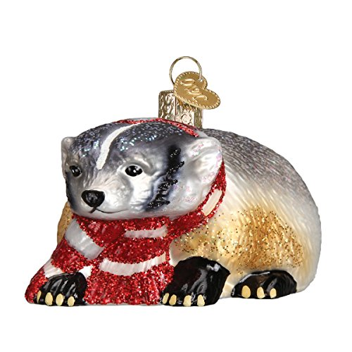 Old World Christmas Badger Glass Blown Ornament