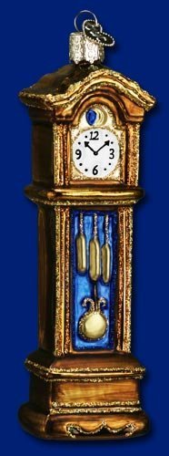 Old World Christmas Grandfather Clock Glass Blown Ornament by Old World Christmas