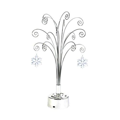 for Swarovski 2018 Annual Christmas Snowflake Crystal Ornament Rotating Stand Gift 16.75inch (Chrome)
