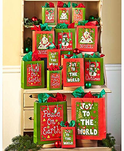 The Lakeside Collection 42-Pc. Designer Holiday Cheer Gift Bag Sets