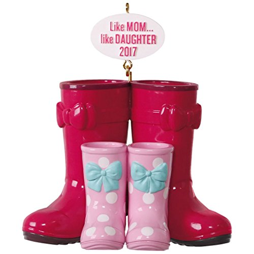 Hallmark Keepsake 2017 Winter Boots Like Mom, Like Daughter Dated Christmas Ornament