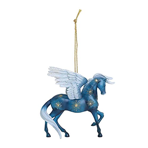 Enesco Trail of Painted Ponies Night Flight Stone Resin Horse Hanging Ornament, 2.38″, Blue