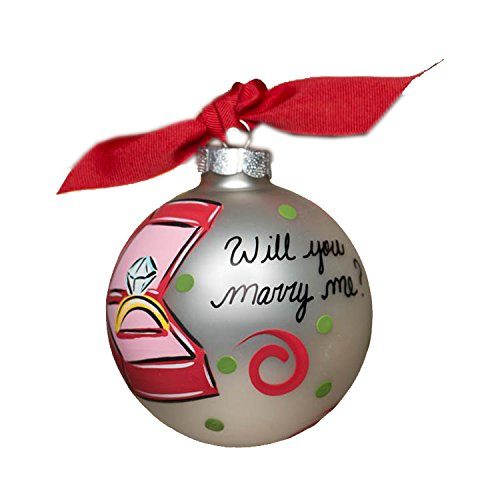 Glory Haus Will You Marry Me? Glass Ornament, 4-Inch