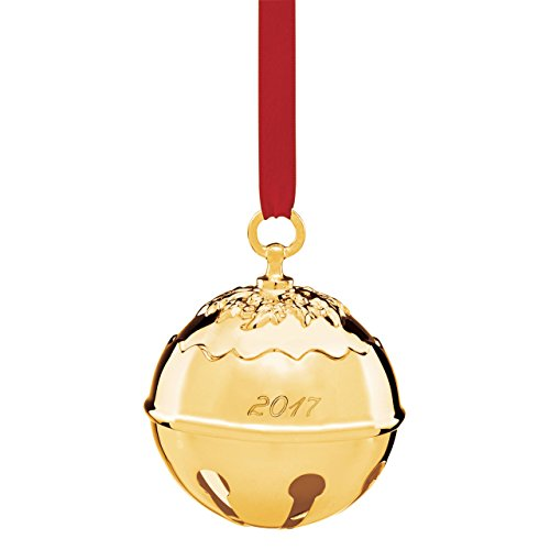 Reed & Barton Holly Bell 2017 – Goldplated Ornament