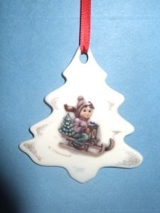 M I Hummel Ride Into Christmas Ornament