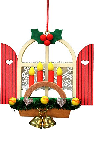 "10-0572 – Christian Ulbricht Ornament – Window with Arch – 3″""H x 3″""W x 1″""D"