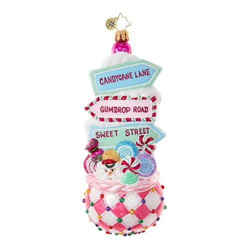 Christopher Radko Sweet Street Treat Candy & Sweets Christmas Ornament
