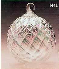 Glass Eye Studios Clear Diamond Facet Glass Ornament