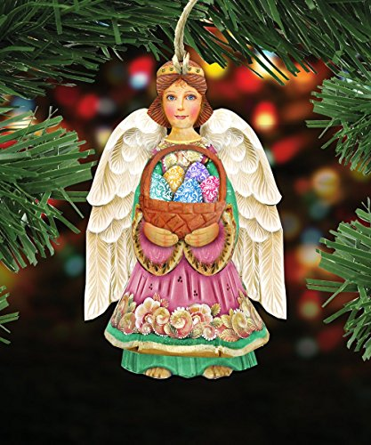 G.DeBrekht's Easter Angel Wooden Ornament Set of 3 #8154153-S3