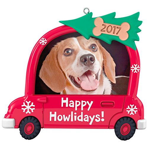 Hallmark Keepsake 2017 Happy Howlidays! Dog Picture Frame Dated Christmas Ornament