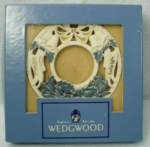"Wedgwood White Jasper 1993 Christmas Ornament ""Noel"""