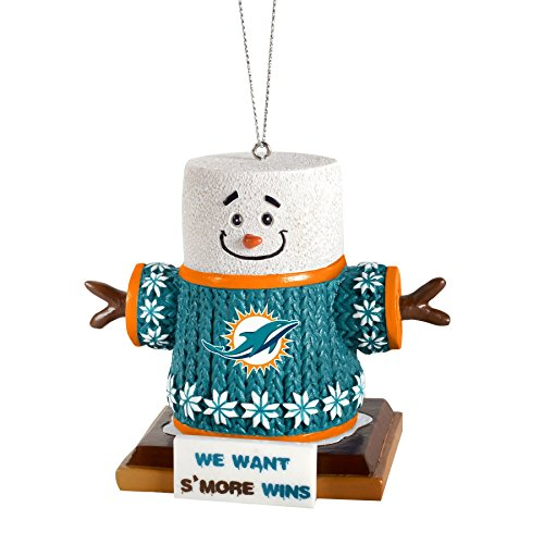 NFL Football Team Logo Smores Holiday Tree Ornament – Pick Team (Miami Dolphins)