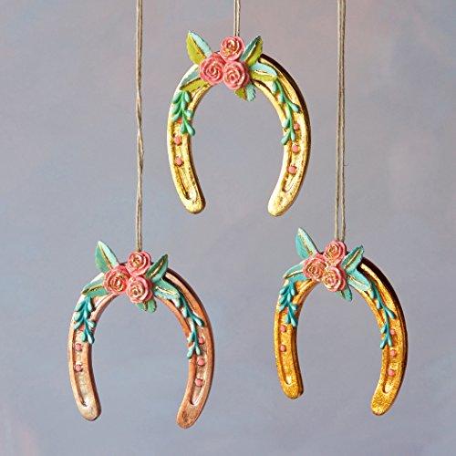 Pretty Horseshoe Ornament (Gold)