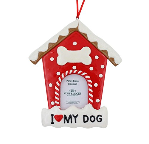 Kurt Adler I Love My Dog Pet Picture Frame Ornament