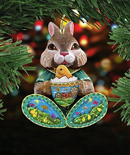 G.DeBrekht's Easter Bunny Wooden Ornament Set of 3 #8144502-S3