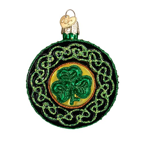 Old World Christmas Celtic Brooch Glass Blown Ornament