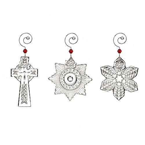Waterford Crystal 2017 Mini Ornaments – Set of 3 Ornaments – A Snowflake, Cross, And Star