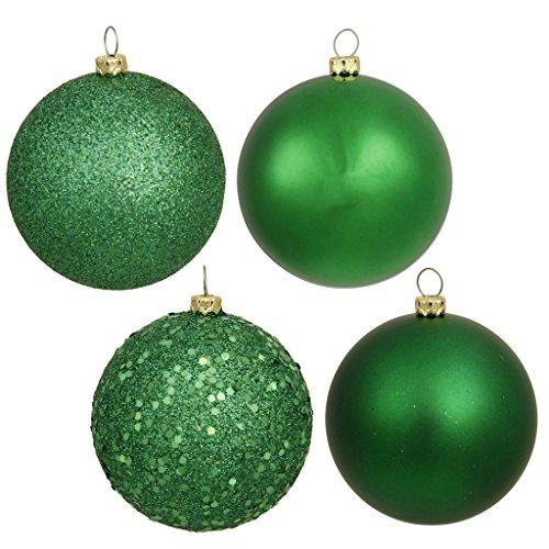 Vickerman 16354 – 3″ Green Matte Shiny Sequin Glitter Ball Christmas Tree Ornament (16 pack) (N590804)
