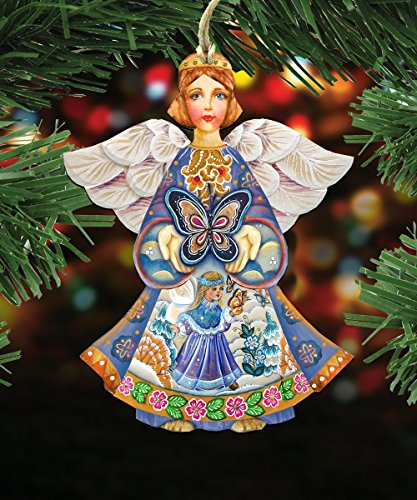 G.DeBrekht's Spring Angel Wooden Ornament Set of 3 #8154152-S3