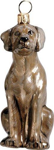 Weimaraner Dog Polish Blown Glass Christmas Ornament Decoration Made in Poland
