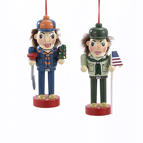 Boy Scout And Cub Scout Nutcracker Ornament Set OF 2