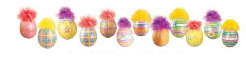 Easter Eggs Set of 12 sparkling Ornaments Glittered & Hand Painted