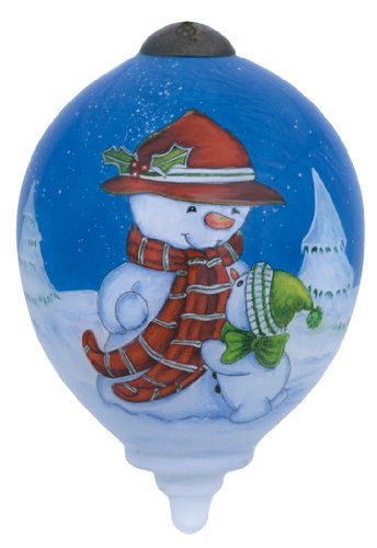 "Ne'Qwa Art, Christmas Gifts, ""I Love You Snow Much"" Artist Gillian Roberts, Petite Princess-Shaped Glass Ornament, #7141122"