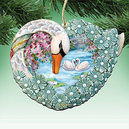G.DeBrekht's Swan Wooden Ornament Set of 3 #8185261-S3