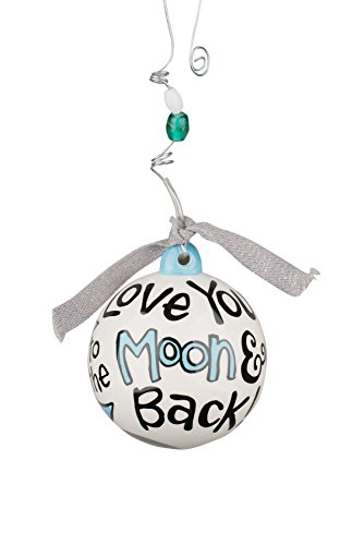 Glory Haus Love You to the Moon Blue Ball Ornament, Multicolor