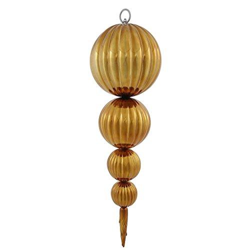 Vickerman 345658 – 26″ Mocha Shiny Hanging Pumpkin Finial Christmas Tree Ornaments (N146116UV)