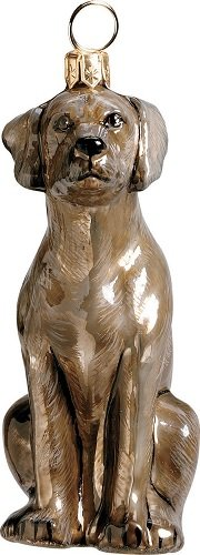 Weimaraner Dog Polish Blown Glass Christmas Ornament Decoration Made in Poland