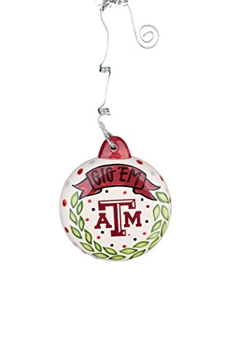 Glory Haus Texas a&M M Puff Ornament, Multicolor