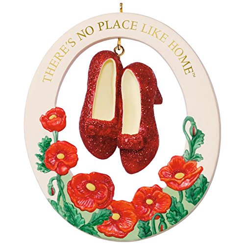 Hallmark Keepsake 2017 THE WIZARD OF OZ THERE'S NO PLACE LIKE HOME RUBY SLIPPERS Porcelain Christmas Ornament