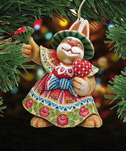 G.DeBrekht's Mrs. Easter Bunny Love Wooden Ornament Set of 3 #8154421-S3